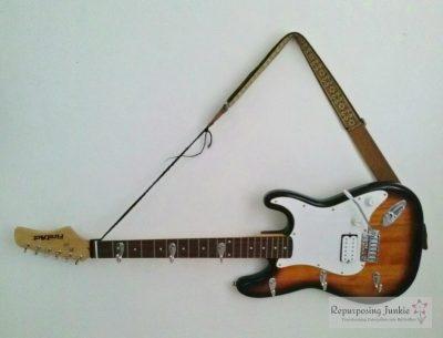 Repurposed Electric Guitar into a Coat/Garment Rack
