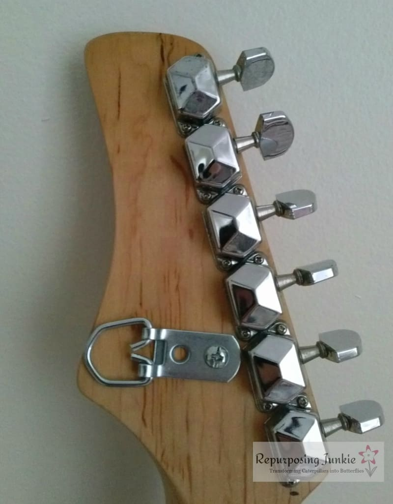 Repurposed Electric Guitar into Coat Garment Hat Rack Holder (12)