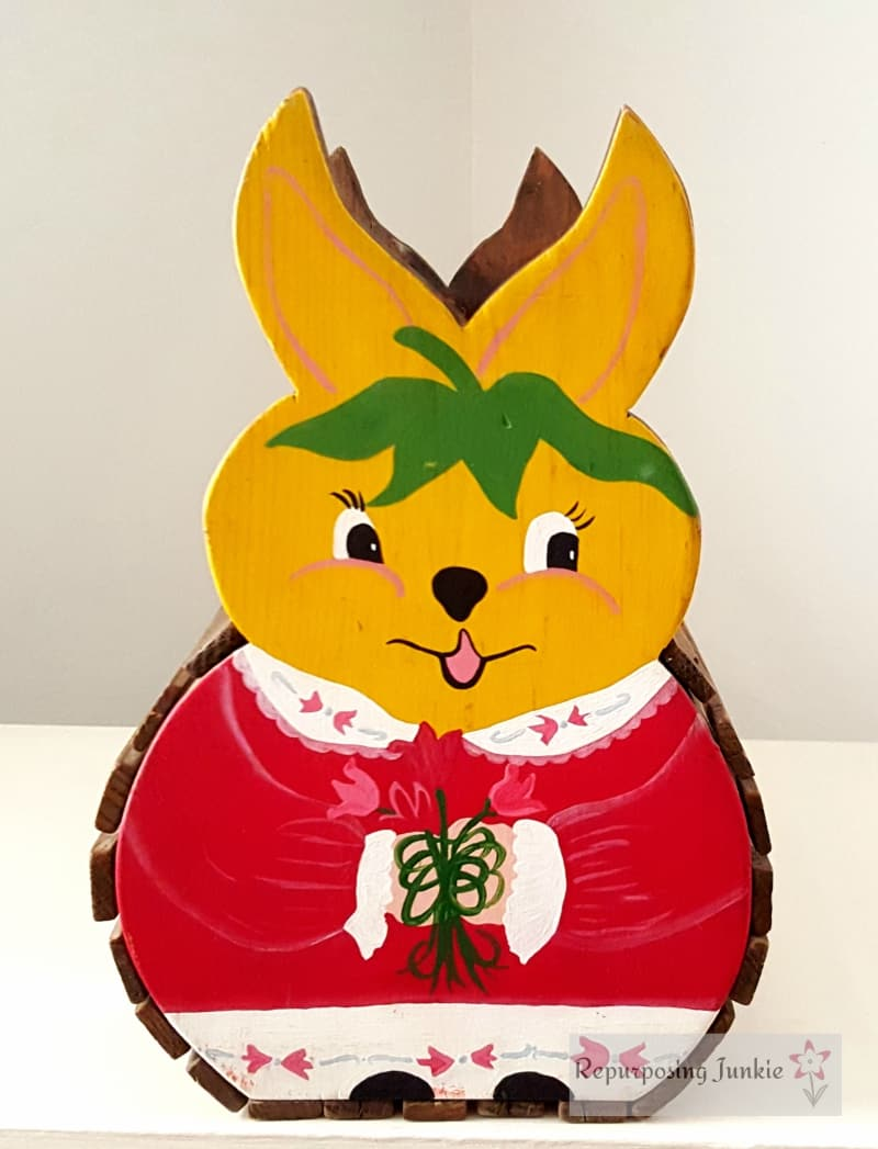Wooden Easter Bunny Basket Tradition
