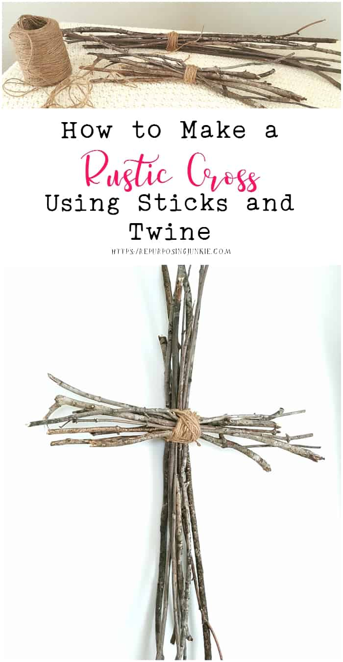 How to Make a Rustic Cross Using Sticks and Twine