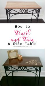 How to Restore a Side Table Using Stain and Stencils
