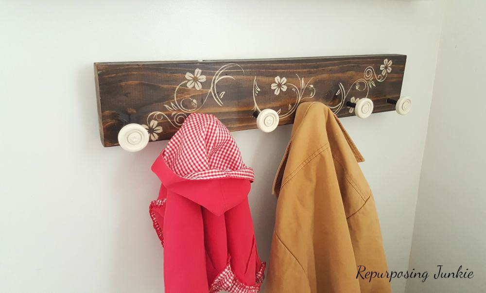 How to Make a Coat Rack using Garage Door Rollers