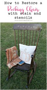 How to Refinish a Rocking Chair with Stain and Stencils