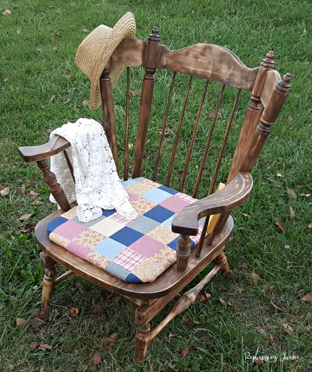 Rocking Chair with Farmhouse Makeover