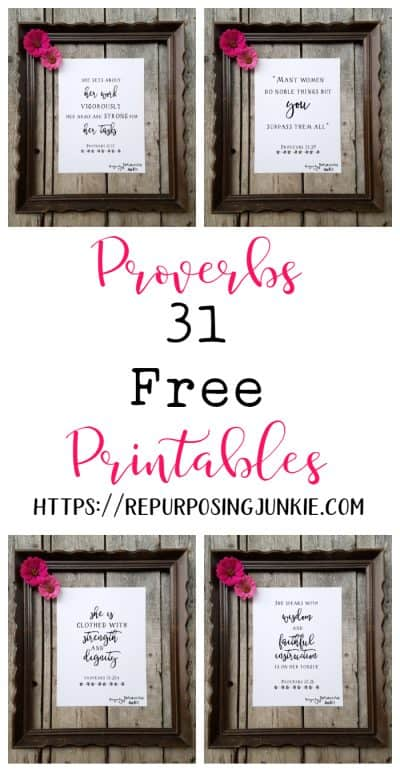 FREE Proverbs 31 Printables