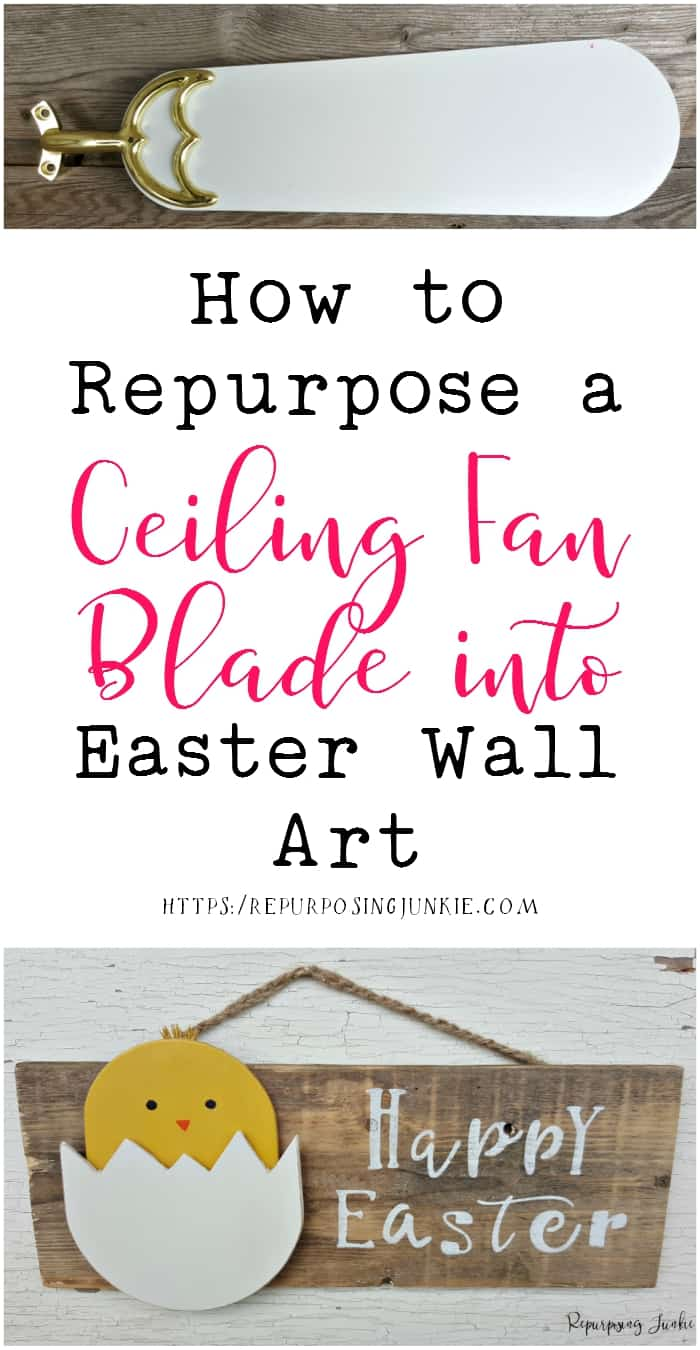 How to repurpose a ceiling fan blade into easter wall art aloadofball Choice Image