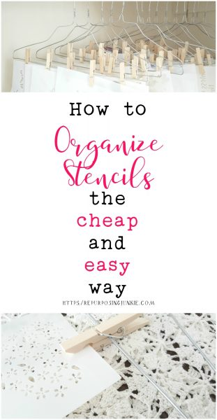 How to Organize Stencils the Cheap and Easy Way