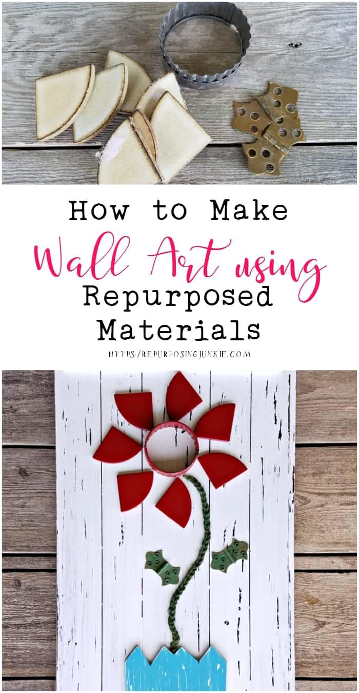 How to Make Wall Art Using Repurposed Materials