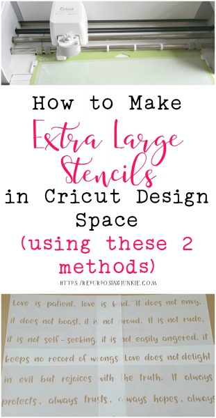How to Make Extra Large Oversized Stencils in Cricut Design Space