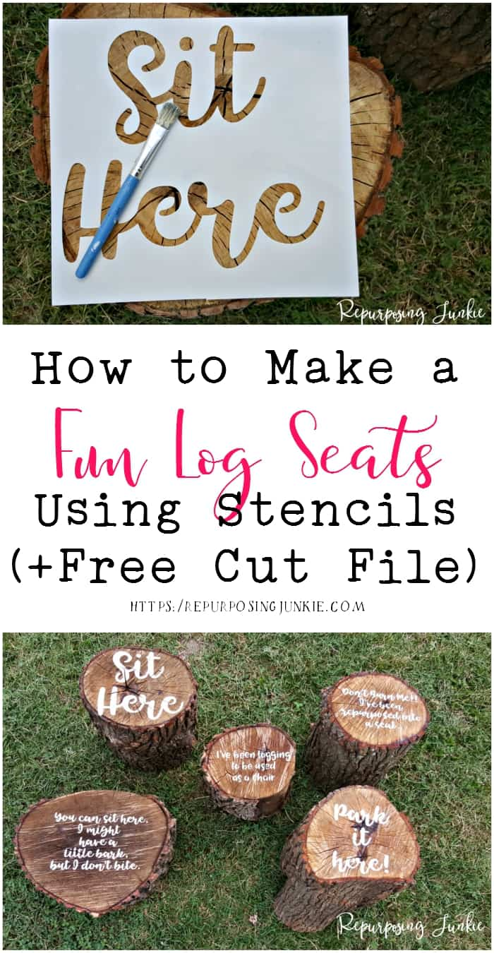 How to Make Fun Log Seats using Stencils