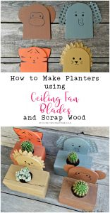 How to Make a Planter using Repurposed Fan Blades and Scrap Lumber