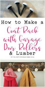 How to Make a Coat Rack using Garage Door Rollers