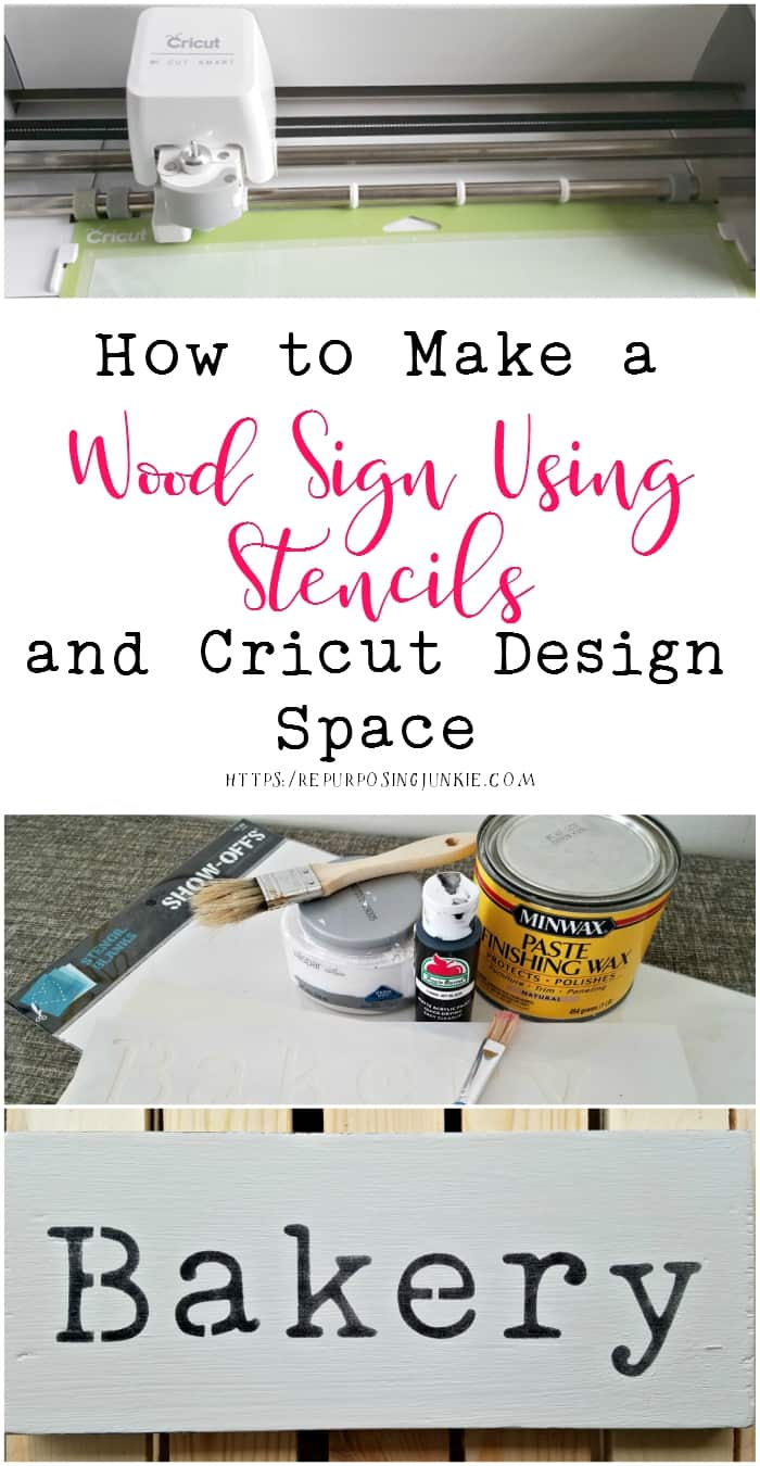 How to Make a Wood Sign Using Stencils and Cricut Design
