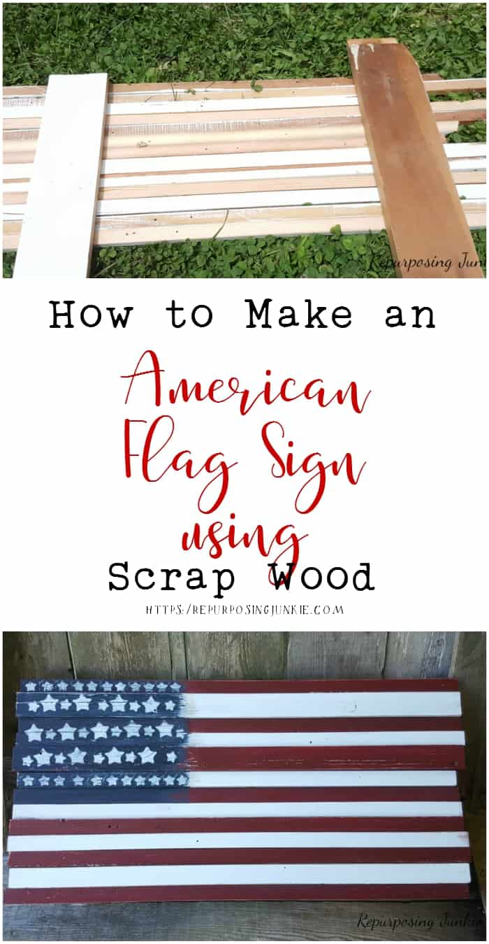 How to Make an American Flag Sign Using Scrap Wood