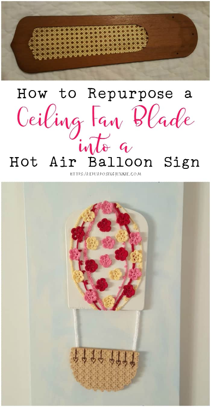 How to Repurpose a Ceiling Fan Blade into a Hot Air Balloon Sign