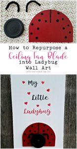How to Repurpose a Ceiling Fan Blade into Ladybug Wall Art