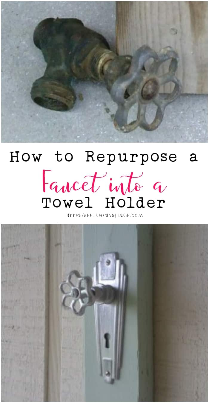 How to Repurpose a Faucet into a Towel Holder