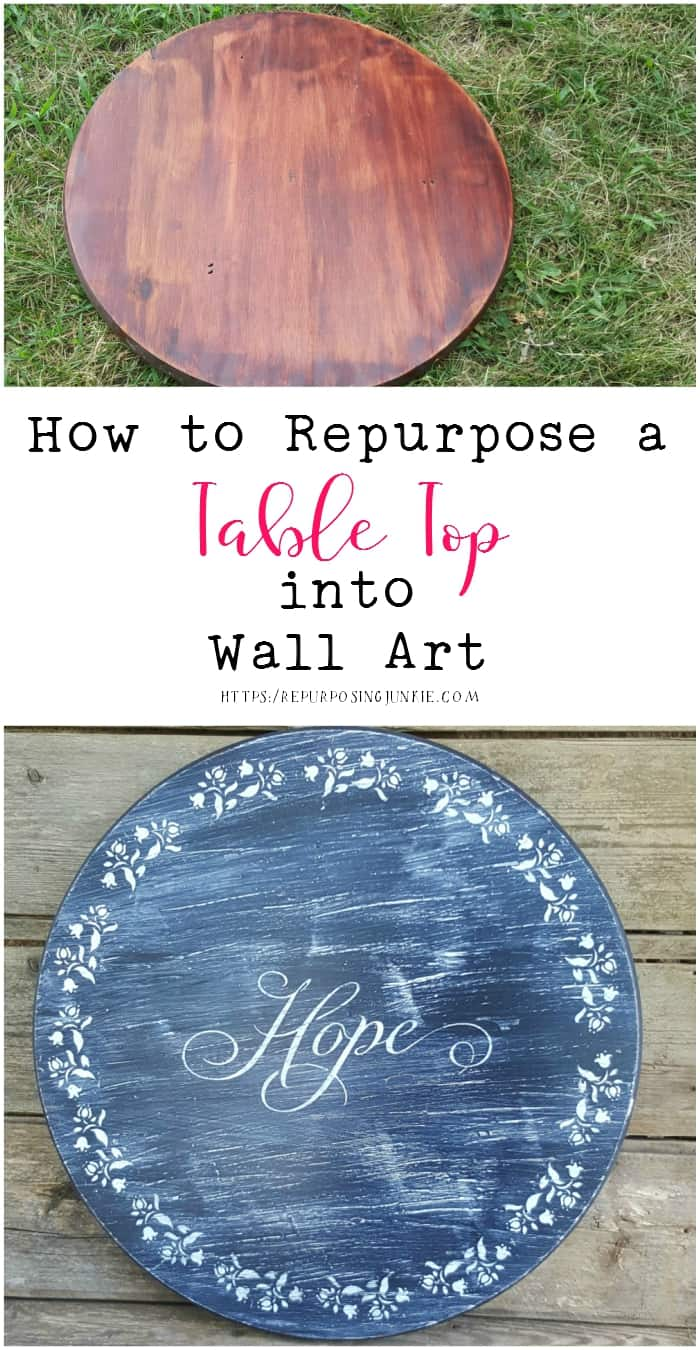 How to Repurpose a Table Top into Wall Art