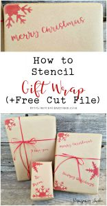 How to Stencil Gift Wrap