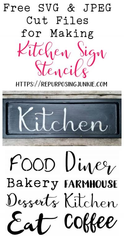 Free SVG and JPEG Cut Files that are Perfect for Making Kitchen Sign Stencils