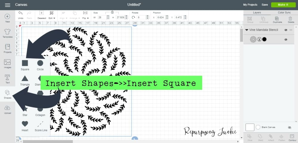 How to Make an Extra Large Oversized Mandala Stencil in Cricut Design Space