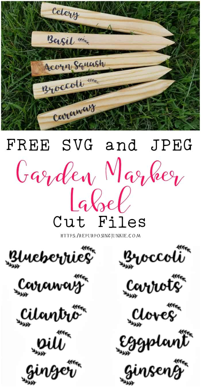 Free SVG and JPEG Garden Labels for Stencil Making