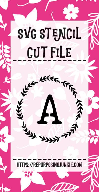 Free SVG and JPEG Initial Alphabet Wreath Cut Files