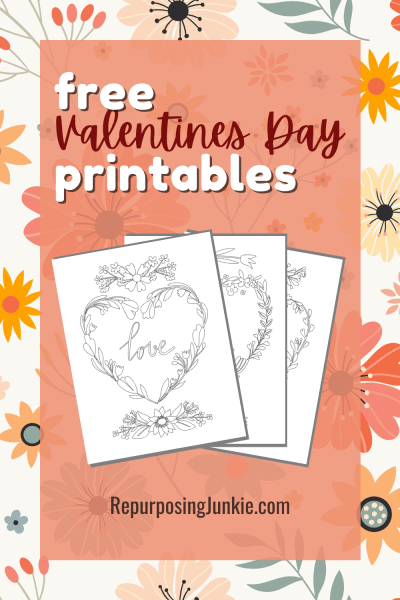 Free Valentie's Day Love Printable Coloring Pages for Adults and Kids