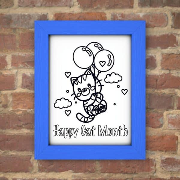 Happy cat month printable