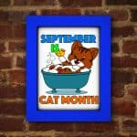 Cat Month Coloring Page