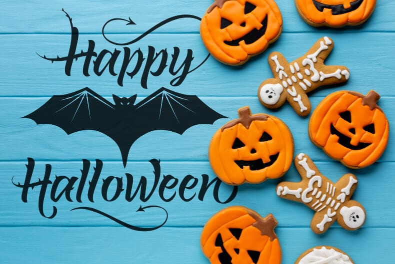 Happy Halloween free SVG cut file for Cricut and Silhouette