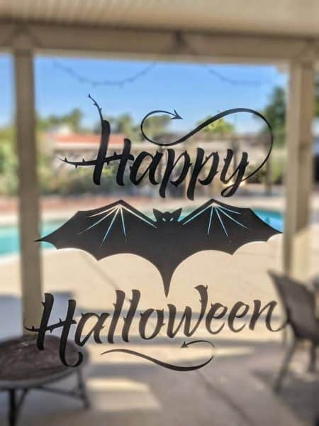 Happy Halloween free SVG cut file window sign for Cricut and Silhouette