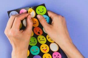 happy faces sticker sheet